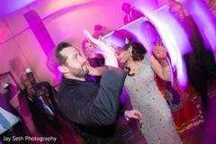 indian bride and groom,indian bride and grooms first dance,indian wedding reception fashion