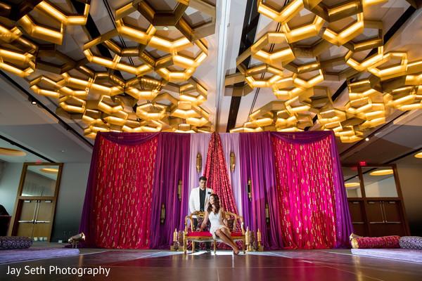 draped mandap,indian wedding decor,indian bride and groom