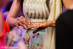 Gorgeous Indian wedding hand jewelry and mehndi art.