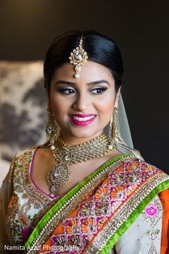 Dazzling indian bride's portrait.