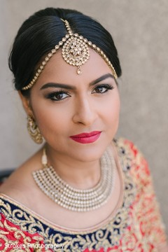 Beautiful indian bride's portrait