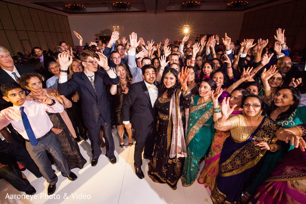 Indian wedding reception selfie