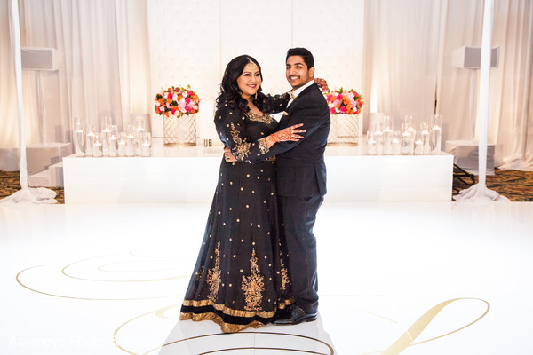 Beautiful indian couple at the dance floor