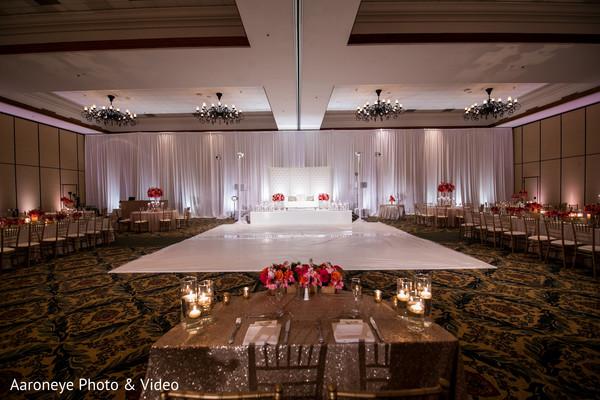 Splendorous indian wedding reception ballroom