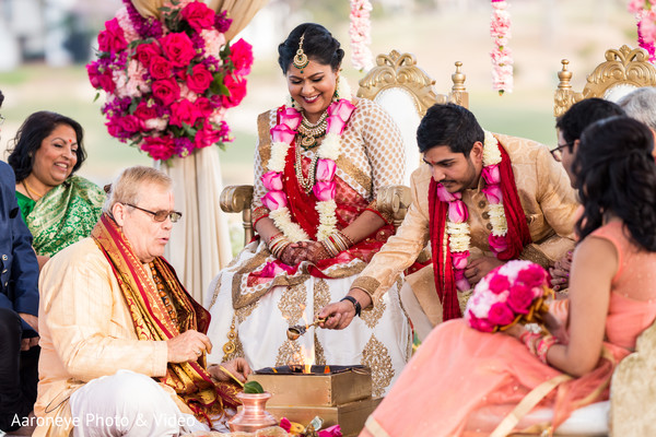 Indian groom performing wedding rituals