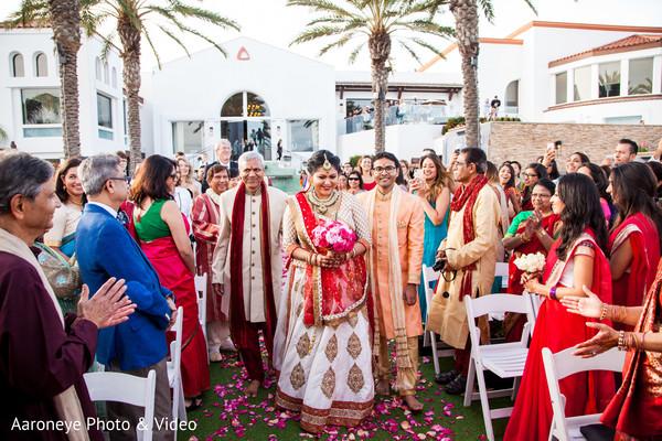 Indian bride making her entrance