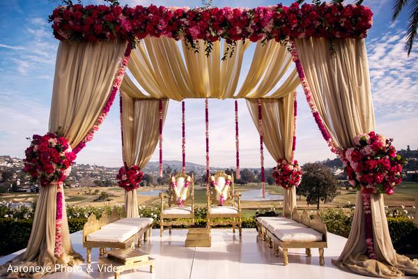 Dreamy outdoor indian wedding mandap