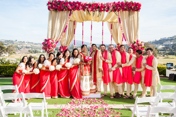 Colorful indian wedding photo