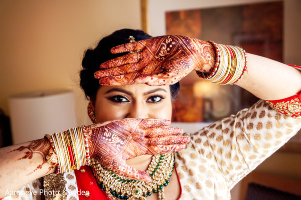 Beautiful indian bride eye makeup