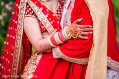 Gorgeous Indian wedding mehndi decoration.