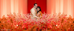 indian newlyweds,floral and decor