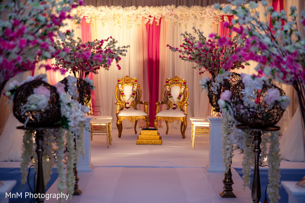 mandap,indian wedding stage,floral and decor