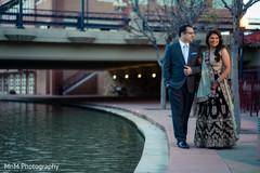 Elegant indian newlyweds