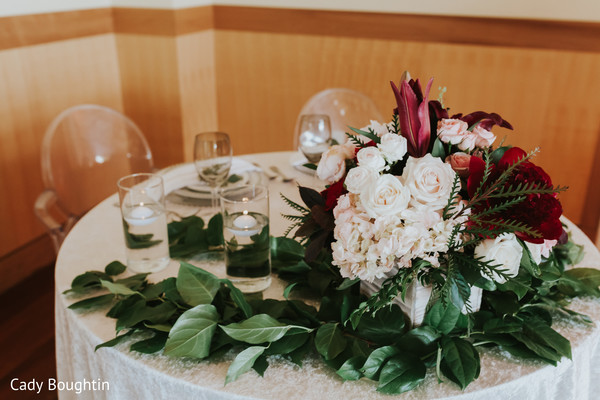 indian wedding reception,indian wedding reception floral and decor,table centerpiece