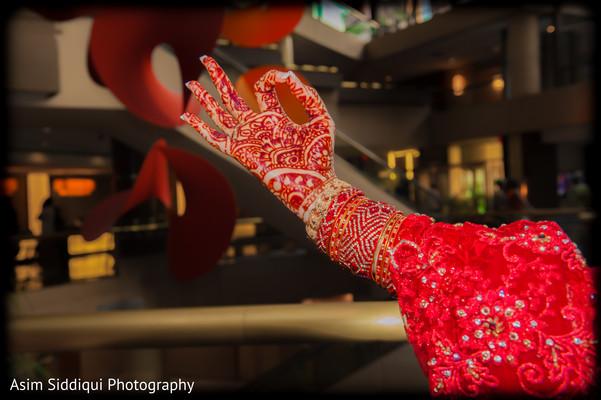 Bridal mehndi art