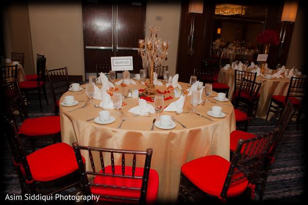 Indian wedding table set up details