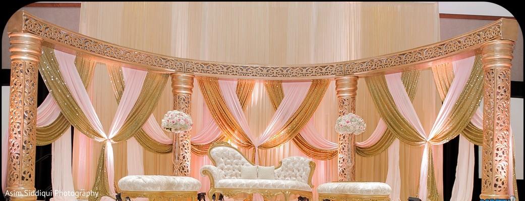 Fantastic indian wedding reception stage decor