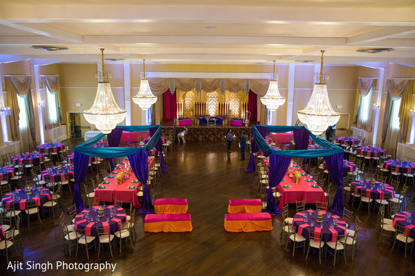 Incredible pre-wedding celebration table setup and decoration.