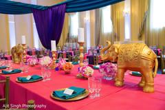 indian pre-wedding decor,indian wedding table setup,indian wedding elephant table decor