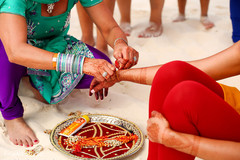See this traditional indian bride's pre-wedding ritual