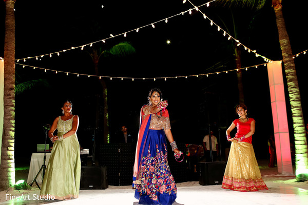 Upbeat indian bride's dance performance