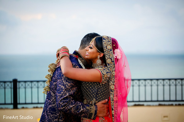 Beautiful indian couple's photo session