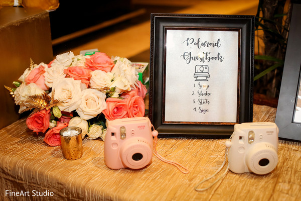 Personalized indian wedding reception decor in Cancun, Mexico Destination Sikh Wedding by FineArt Studio