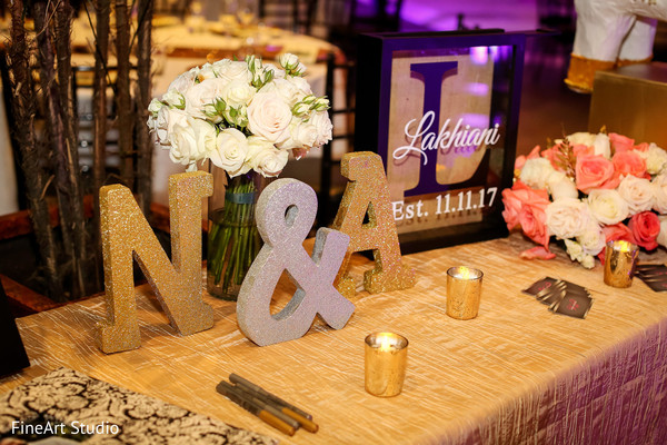 Indian newlyweds reception decor