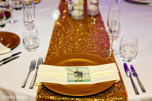 Creative indian wedding table decor in Cancun, Mexico Destination Sikh Wedding by FineArt Studio