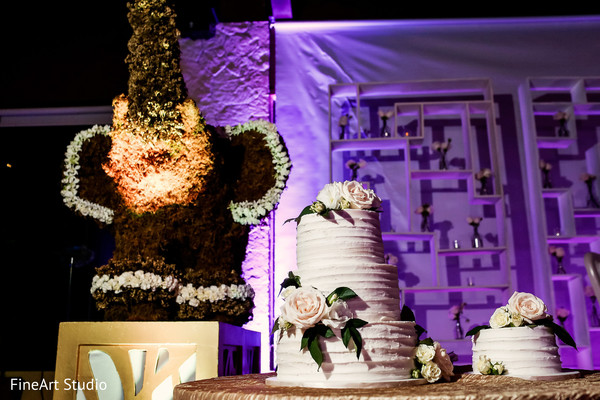 Dazzling indian wedding cake design