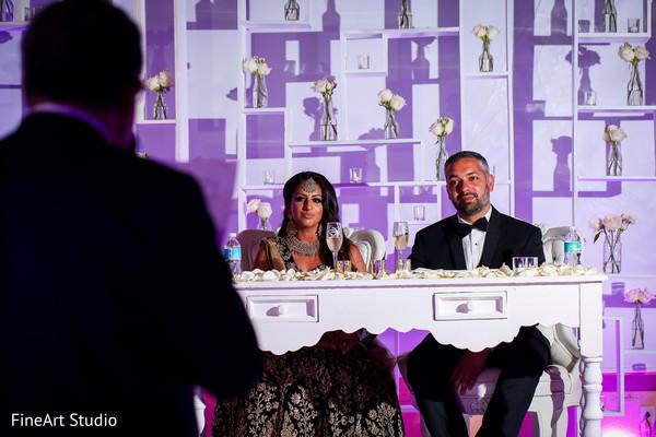Indian wedding toasting moment
