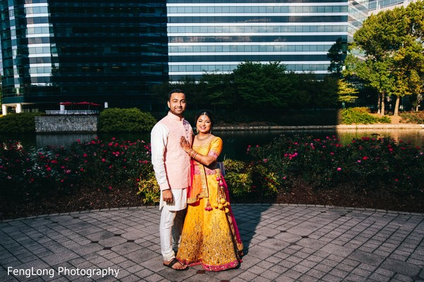 Outdoor themed indian bride and groom's photo session