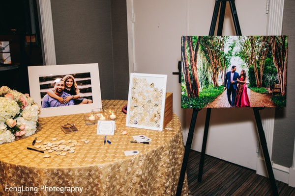 Guest book idea in Atlanta, GA Indian Wedding by FengLong Photography
