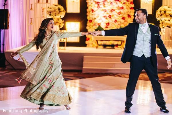 Upbeat indian wedding reception dance performance in Atlanta, GA Indian Wedding by FengLong Photography