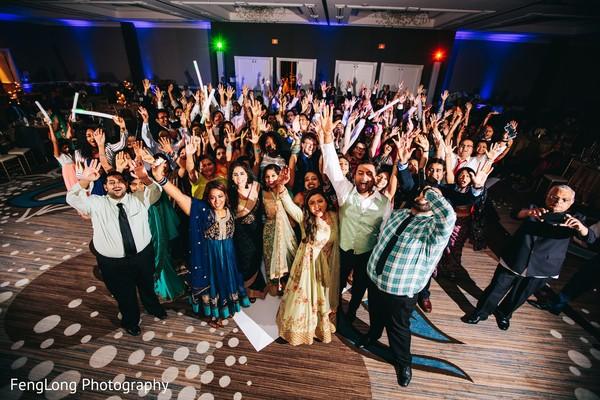 Indian wedding reception portrait in Atlanta, GA Indian Wedding by FengLong Photography