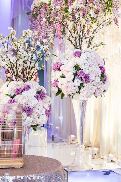 Dreamy floral decor for reception