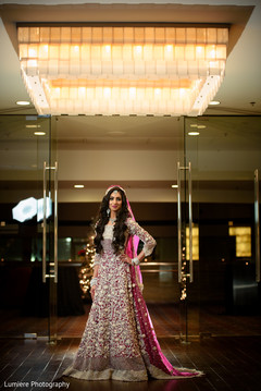 Perfect Indian bridal fashion, hair and makeup.