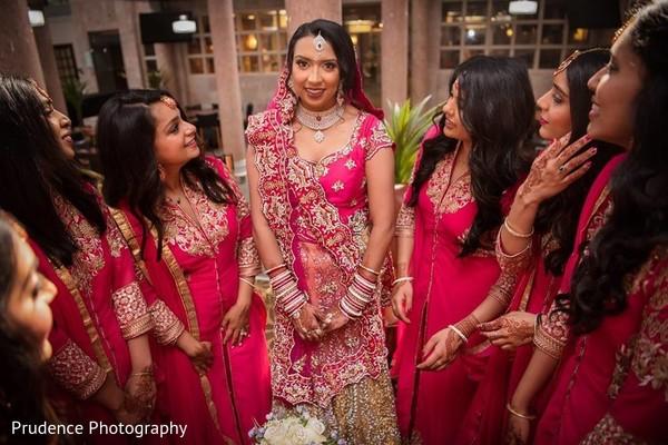 indian bridesmaids fashion,indian bride,bridal lengha