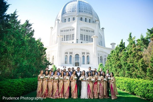 indian bridal party,indian newlyweds
