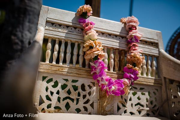 Indian wedding flower garland decoration.