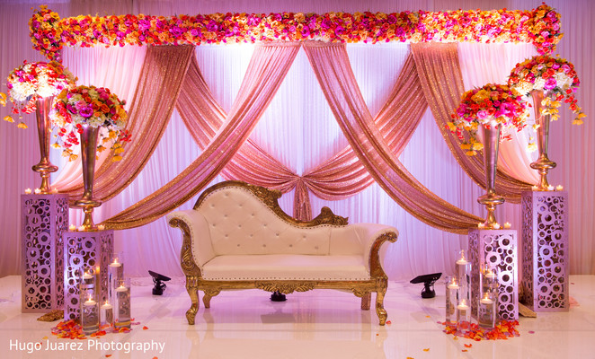Indian Colorful Reception Mandap Decoration Photo 164192