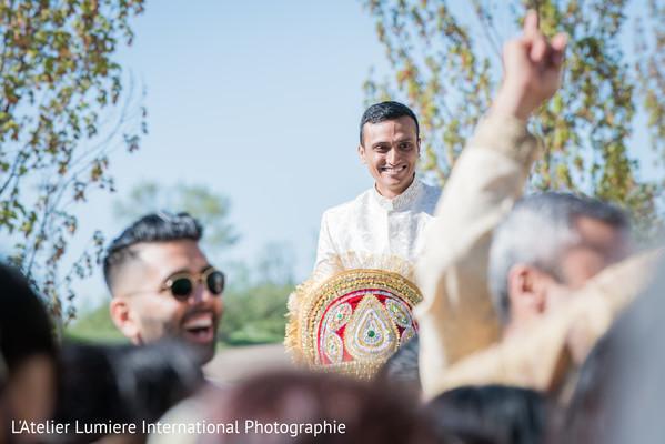 indian groom,baraat celebration,indian pre-wedding celebration,indian wedding fashion