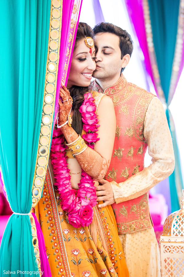 Cherish moment of Indian  bride and groom.
