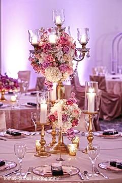 indian wedding reception,indian wedding flower decor,indian wedding table decor,table centerpieces