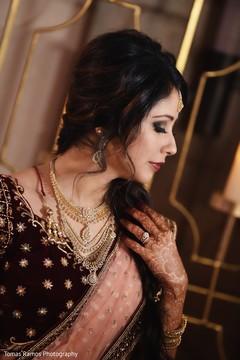 Gorgeous Indian bride's portrait.
