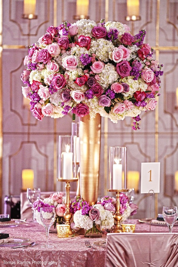 indian wedding reception,indian wedding flower decor,indian wedding table decor,indian table centerpieces
