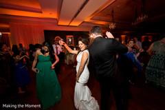 indian wedding,white wedding dress,wedding dj