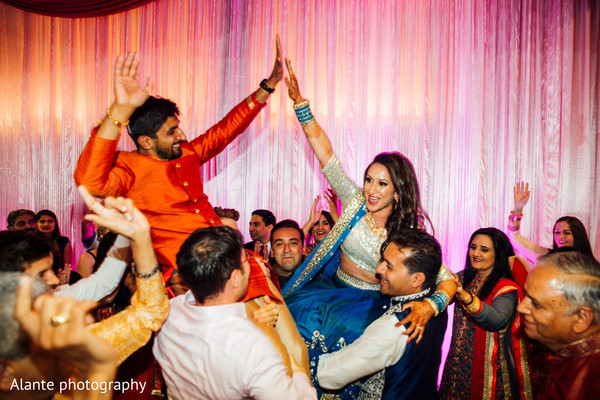 indian wedding gallery,sangeet,indian bride and groom