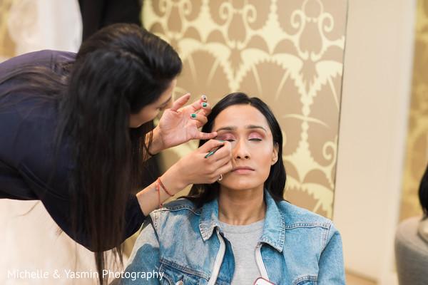 Indian bride makeup artist