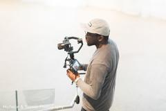 Stylized shoot camera man